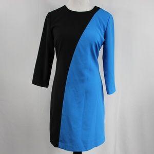 Ann Taylor Women's Dress Size 2 Blue Black